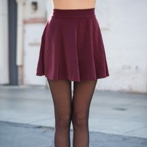 Brandy Melville Red Skater Skirt